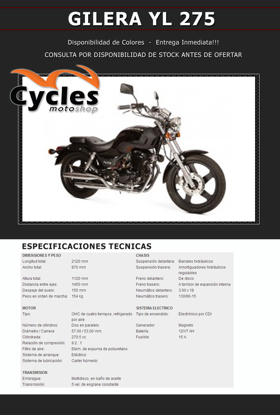 GILERA YL 275 Cycles Motoshop