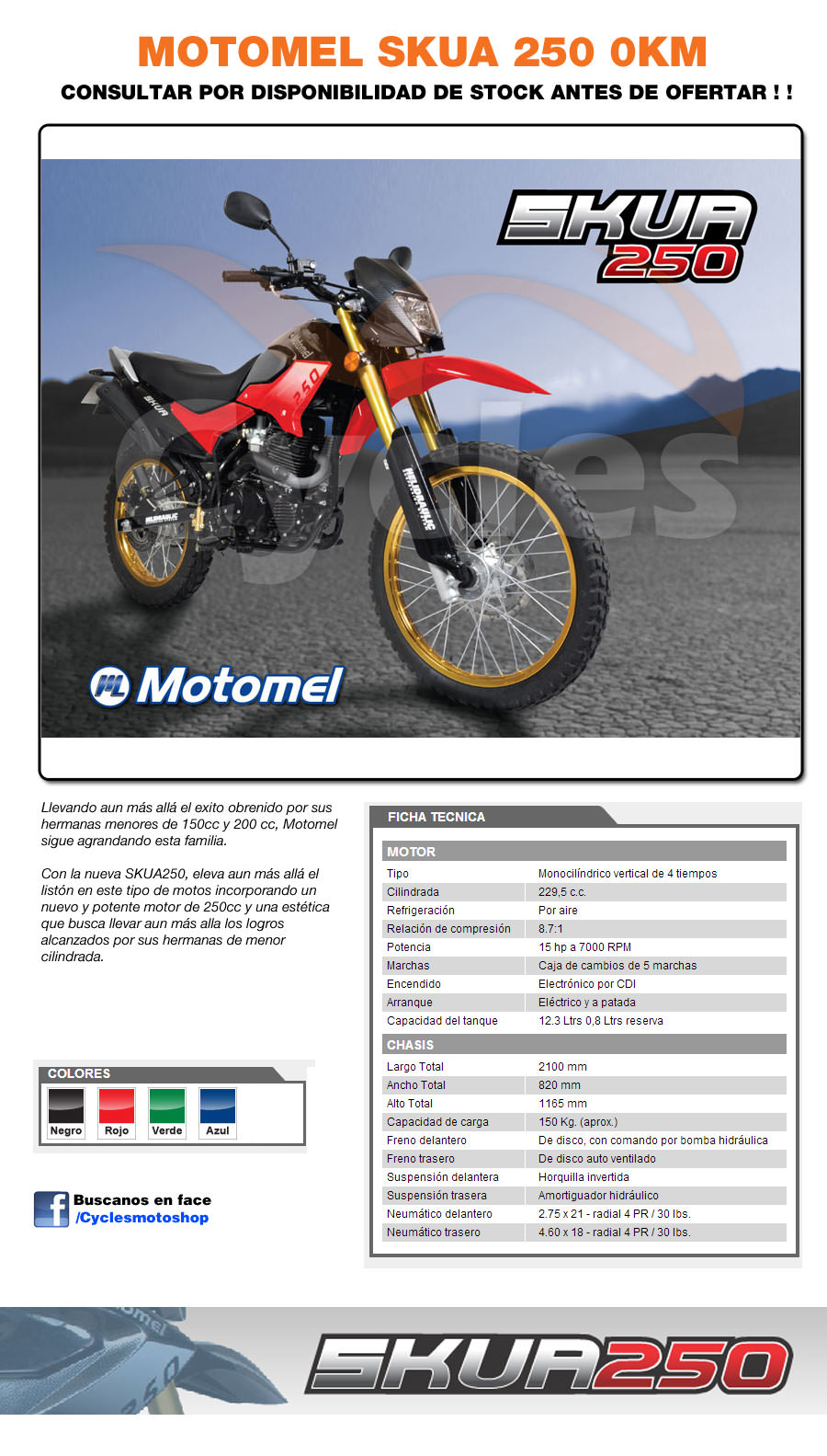 Motomel Skua 250 - Cycles Motoshop
